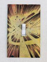 Atomic Fireball Explosion Custom Wall Light Switch Plate - Comic Book Marvel DC