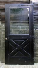 "36""x80"" Vintage Antique Old Wood Wooden Storm Screen Exterior Door Window Glass"