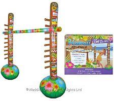 Inflatable Limbo Game Tiki Poles Stick Hawaiian Beach Birthday Party Garden Toy