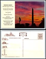 Vintage Postcard - Washington Monument at Sunset O33
