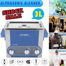 3L Lavatrice Pulitore ad Ultrasuoni Pulizia Pulitrice Coperchio Dentale Timer EU