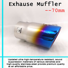 Dual Oval Rolled Angle Slanted Exhaust Muffler Burnt Tip Pipe 70mm For BMW M3