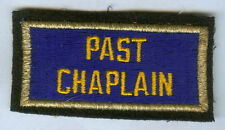WW2 US AMERICAN LEGION PAST CHAPLAIN BULLION EDGE PATCH WWII VETERAN
