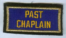 WW2 US AMERICAN LEGION PAST CHAPLAIN BULLION EDGE PATCH WWII VETERAN