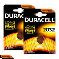 2 x Duracell Lithium Coin Cell battery CR2032 CR BR2032 DL2032 3V EXP:2025