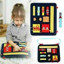 Kids Happy Learning Toys Toddler Busy Board Basic Skills Board Educational