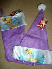 **SPECIAL $6** Disney Tinkerbell Christmas Stocking & Hat, Purple, New With Tags