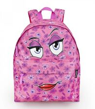 Delbag COME HERE Pink Face Backpack Girls Travel Work Rucksack School Bag