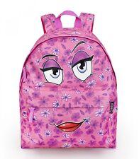 Delbag vienen aquí Rosa Chicas de viaje mochila de cara Bolso Escolar Morral De Trabajo