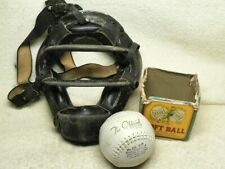 Play Ball! VINTAGE UMPIRE's / Catcher's MASK + J.deBeer Double-Header SOFTBALL
