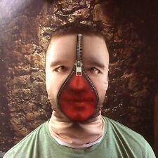 3d hombre cremallera Sangriento Cara Efecto Piel Cara De Lycra Máscara Halloween