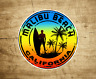 "Malibu Beach California Surfing Surfer Vinyl Decal Sticker  2"" to 3.8"""