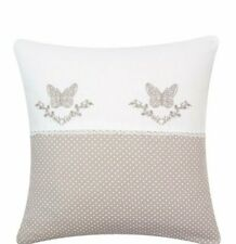 Pillowcase Pillow Cover 40x40cm Shabby Cottage Brocade Butterfly Monogram