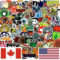 LOT 100 Skateboard Stickers Bomb Luggage Snowboard Car Skate Skating Laptop