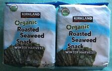 2x Kirkland ORGANIC Roasted Seaweed Winter Harvest .6 oz Carefully Packed in Box