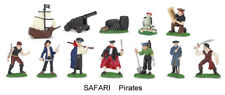 Safari 1/32 set of pirates, factory painted 12 toy soldiers & accessories