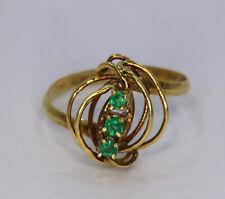 Vintage 18K Yellow Gold Emerald Ring