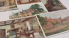 Group Of 6 Northants England Sulgrave Manor Incomplete Set Antique PCs K26473