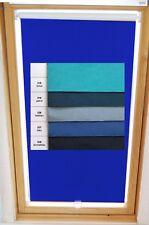 Dachfenster-Rollo Verdunkelung Haltekralle für Veluxfenster GGL GHL GTL GPL blau