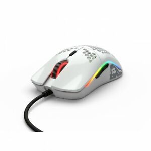 Glorious PC Gaming Race Model O- USB RGB Optical Gaming Mouse - Glossy White
