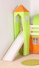 GREEN AND ORANGE TOWER FOR CHILDS MIDSLEEPER OR BUNK BED