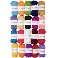 TYH Supplies 20-Pack 22 Yard Acrylic Yarn Assorted Colors Skeins - Perfect for