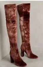 Over the knee Anthropologie velvet boots. NWT Size 8
