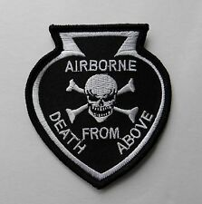 Airborne special Forces Death From Above Embroidered Arm Jacket Patch 3.1 inches