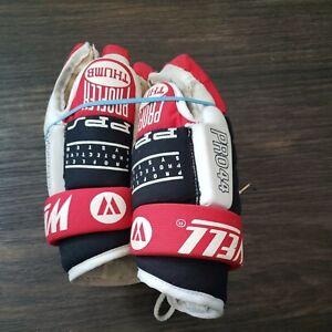 """Vtg Winnwell Hockey Gloves Pro44 PPS, Red/White/Black, 13""""-.33cm"""