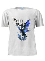 Game OF Thrones Dragon T-Shirt Arya Stark Not Today Men Women Unisex Tshirt M213