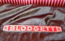 NEW Blodgett RED Name Plate Badge #1375 Pizza Oven Logo Door Panel Metal