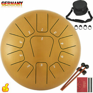 12Zoll 11Töne Drum Handpan  Steel Tongue Drum Zungen Trommel Tankdrum Handpfanne