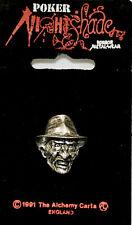 Alchemy Gothic Poker Rox NIGHTSHADE Collection Freddy Krueger Lapel Pin Clasp