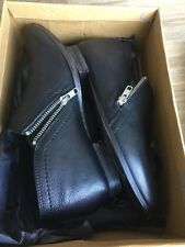 Free People Bootie Boot Zipper Eu 38 New In Box Black Leather