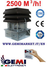 GEMI BASIC CHIMNEY EXHAUST FAN FOR FIREPLACE 110 VOLTS NEW!!