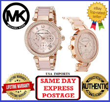 Michael Kors Parker MK5896 Rose Gold-Tone Blush Acetate Women's Wristwatch