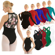 Women Gymnastics Contemporary Ballet Skirt Leotard Tutu Dress Dance Wear Costume