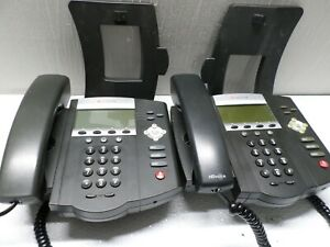 Lot of 2 Polycom Soundpoint IP450 Office Business Phones 2201-12450-001