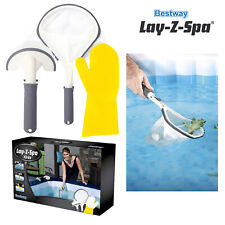 Bestway Lay-Z-Spa Hot Tub Inflatable Pool 3 Piece All-in-one Cleaning Tool Set