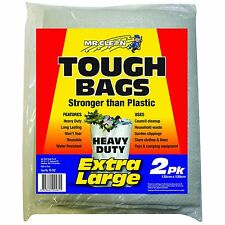 Mr Clean GARBAGE TOUGH BAGS 135x120cm Extra Large, 2 Pieces Reusable USA Brand