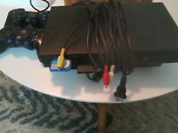 Ps2 scph-50001 Tested 1 CONTROLLER AND LOGITECH UNTESTED NO DONGLE READ DESC --
