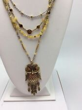 $69 Lucky Brand Owl Layer Necklace Multi Layers Hoot Collection #L24