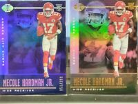 MECOLE HARDMAN JR CHIEFS 2019 ILLUSIONS ROOKIE CARD & PARALLEL BLUE SP 059/299