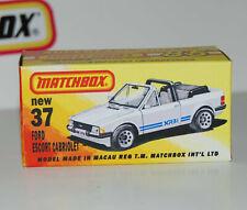 Affichage Personnalisé Boîte uniquement pour MATCHBOX 37 Ford Escort Cabriolet-Free UK POST