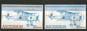 Ascension 1982 40th Anniversary Of Wideawake Airfield Booklets SG 318/9