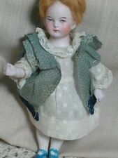 Antique Rare Doll German All Bisque 5114 Jointed Doll  Intaglio Eyes 6""