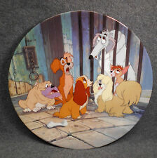 "Disney's Lady & The Tramp Plate #3 - ""Dog Pound Blues"" Knowles Bradford Exchange"