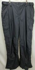 Columbia Mens Omni Shield Vertex Ski Snowboard Pants Size 2XT 2X Tall Black Pant