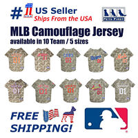 Pet First MLB Camouflage Dog Jersey - Licensed NEW! Available 10 Teams & 5 Sizes
