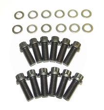 SB Dodge Mopar 12 pt Black Oxide Grade 8 Intake Manifold Bolt Kit NEW